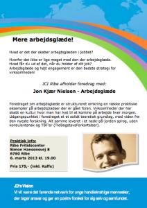 Arbejdsglæde foredrag i Ribe, med Jon Kjær Nielsen