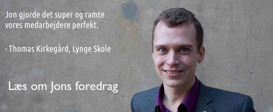 Arbejdsglæde foredrag med Jon Kjær Nielsen